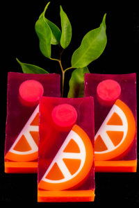 Orange & Pomegranate Clear Glycerin Soap